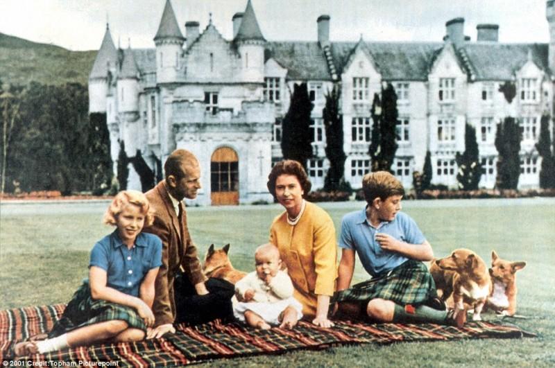女王一家在野餐。图片来源:dailymail.co.uk