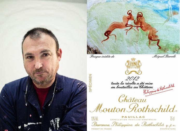 Miquel Barcelo和最新的2012年份酒标