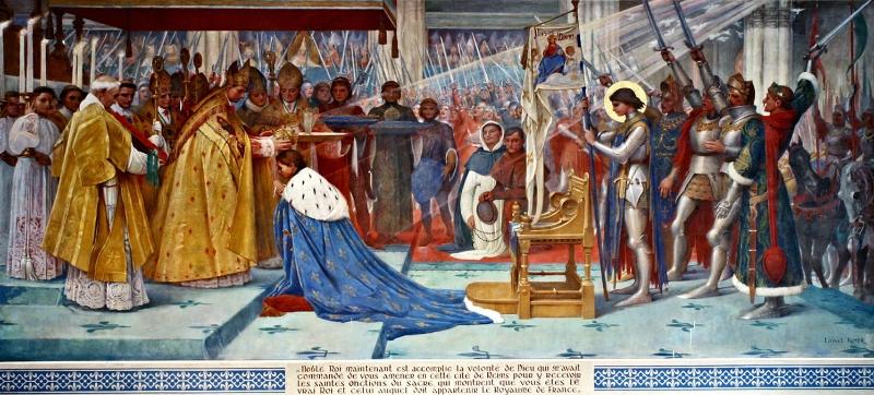 查理七世加冕,身后既是圣女贞德
