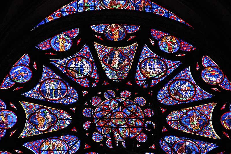 兰斯大教堂的彩色玻璃