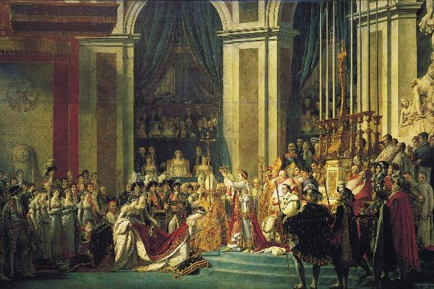 拿破仑为自己加冕之后为皇后约瑟夫加冕