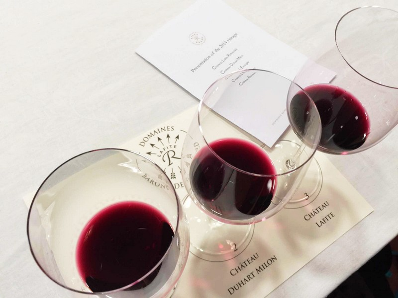 在拉菲品鉴2014年波尔多期酒,照片:凌子/知味葡萄酒杂志