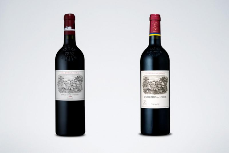 真货的主牌拉菲古堡(左)与副牌拉菲珍宝(右)也就是小拉菲。这是拉菲古堡唯一的副牌酒。