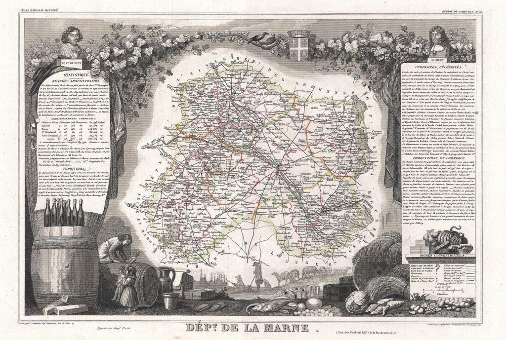 旧版的香槟地图