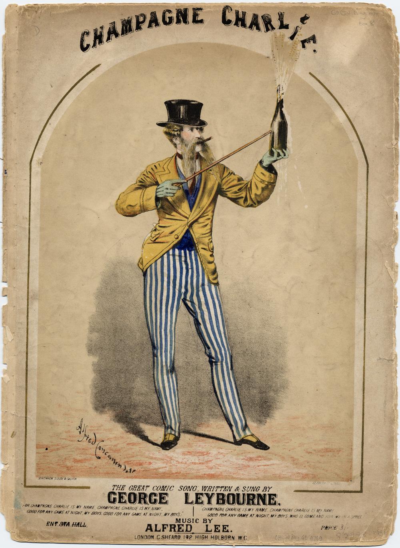 """音乐""""香槟查理""""的唱片,发行于1860年"""