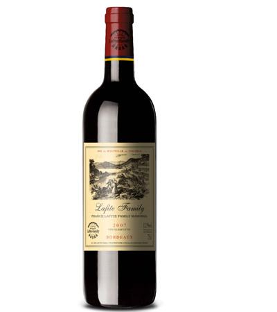 """同样国产的拉菲世族……可能是老板有选择困难,一面非常谦虚的标注了""""奥克区餐酒""""(Pays D'OC),但又写了波尔多……"""