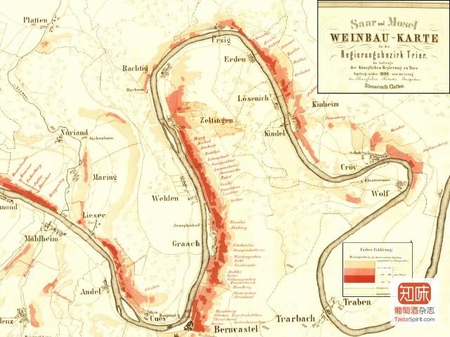 蜿蜒曲折的中部Mosel河流域