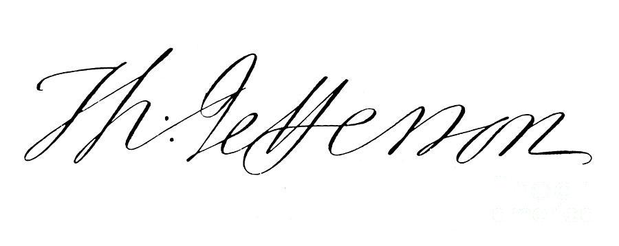 Thomas Jefferson的亲笔签名