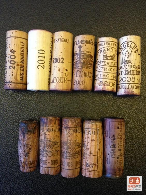 看图:2-30年以上的酒塞和2000年之后的酒塞比较,哪个是老酒,一看便知