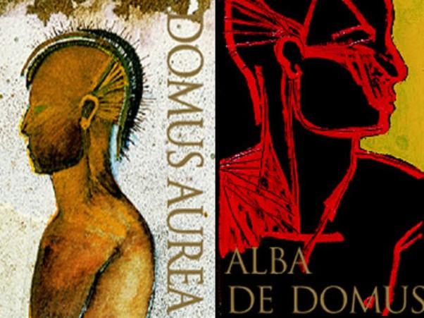 金殿(Domus Aurea)的正牌(左)与副牌(右)