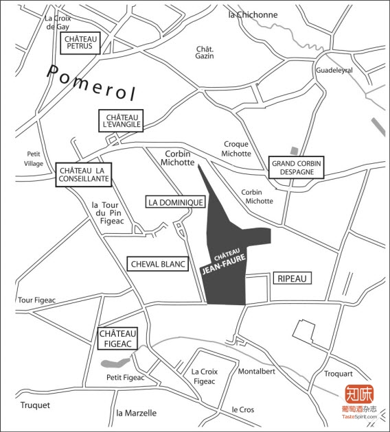 尚福酒庄(Chateau Jean-Faure)的地理位置