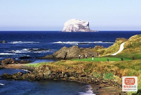 苏格兰爱丁堡附近的North Berwick海角高地高尔夫球场