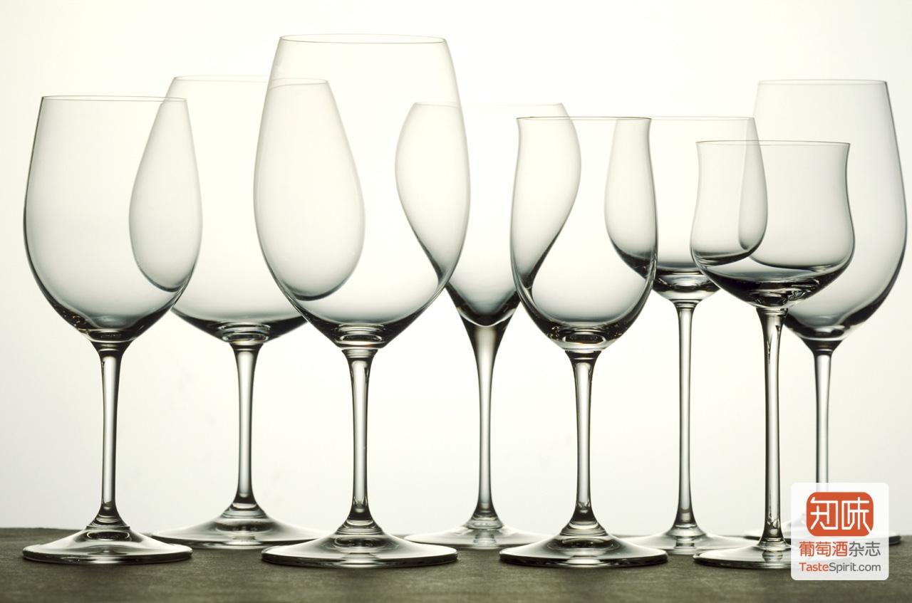各种形式,用途不同的酒杯,图片来源:www.made-in-italy.com