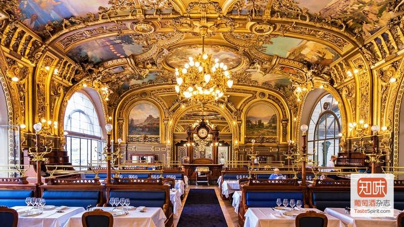 """巴黎里昂火车站的""""蓝色列车""""餐厅(Le Train Bleu),图片来源:Le Train Bleu"""