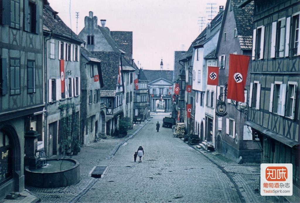 1942年被纳粹德军占领时期的Hugel酒庄景象,来源:Hugel