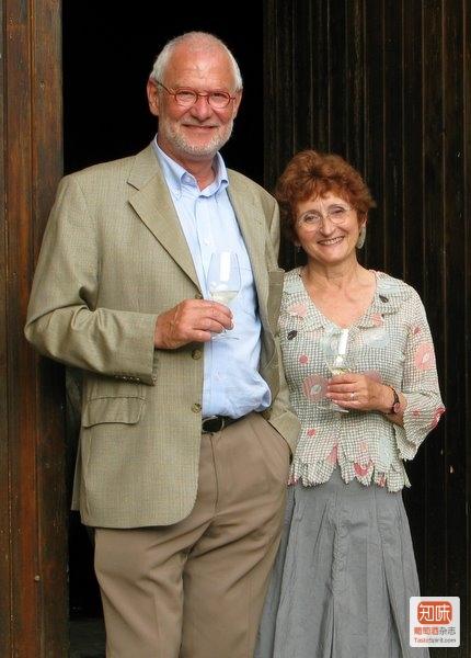 诺埃尔·平古埃(Noël Pinguet)和夫人玛丽·弗朗索瓦丝·平古埃(Marie-Françoise Pinguet),来源:Richard Kelley MW