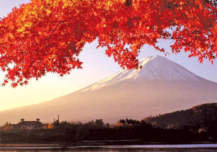 autumn-leaves-at-mt-fuji-japan
