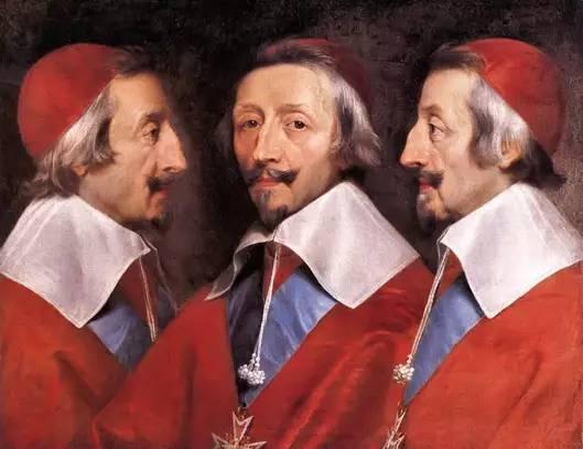德尚拜尼(Philippe de Champaigne)的名画《黎塞留三重像》(Triple portrait du Cardinal de Richelieu)