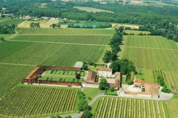 从空中俯瞰人头马家族的Domaine du Grollet酒庄