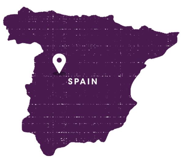 格雷多斯山区(Sierra de Gredos)在西班牙所处的位置