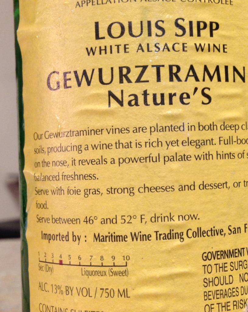 很多酒庄都会自发的在背标上标一个甜味等级
