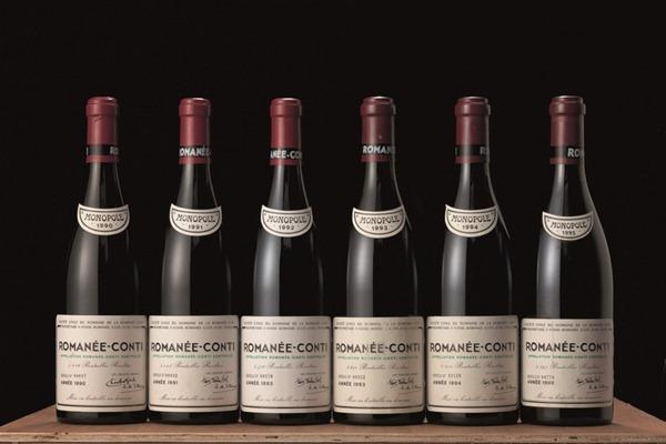 罗曼尼-康帝(Romanée-Conti)1990到1995年份,图片来源:佳士得
