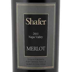 美国加州著名酒庄Shafer的梅洛(Merlot)酒标