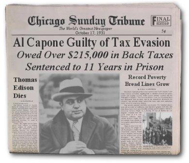1931年芝加哥太阳报的头版头条