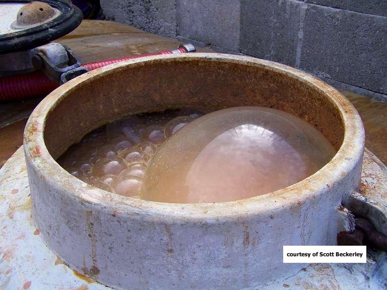 发酵中的酒液,图片来源:塔兰香槟(Tarlant)