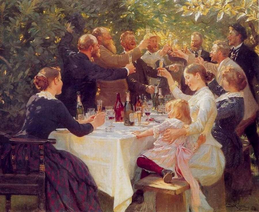 Hip, Hip, Hurrah! 画家:Peder Severin Krøyer(1888)