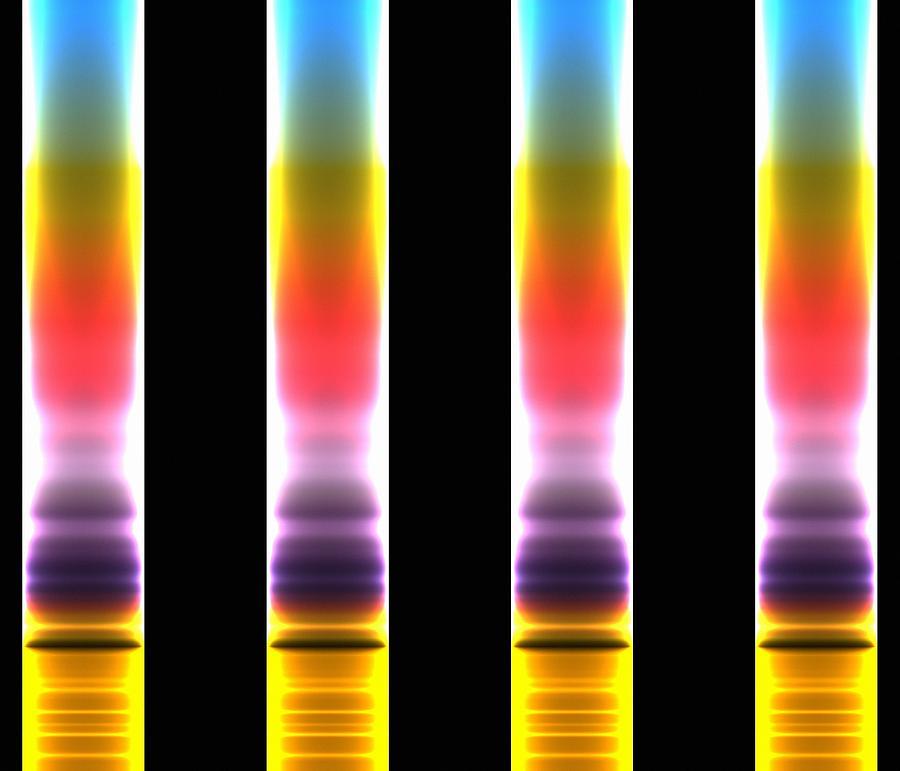 """这种不均匀扩散科学上叫做""""层析现象""""大多数日常中有颜色的液体上都能观察到。"""