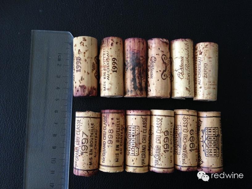 木桐、玛歌、拉菲、智利的活灵魂等名庄酒的酒塞