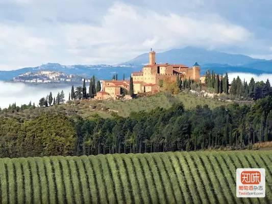 蒙塔奇诺的风景,图片来源:Castello Banfi