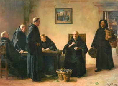 很多艺术作品里,唐培里侬修士都被画作一位盲人……然而也没有资料证明这一点