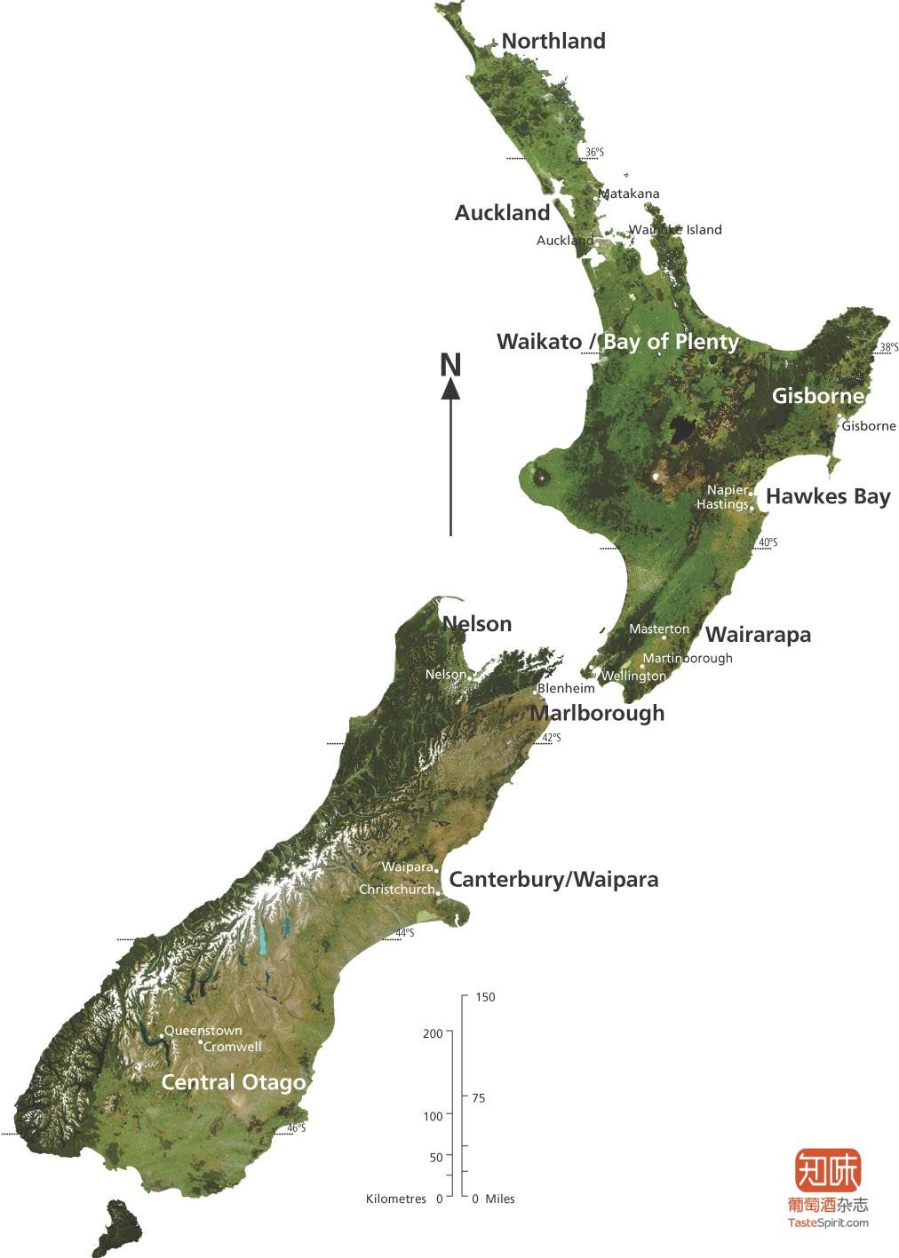 新西兰产区地图(点击放大),来源:trueanddaring