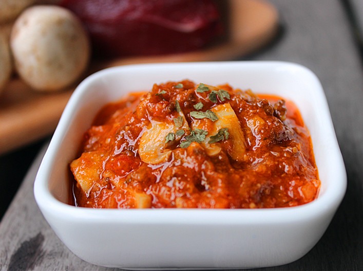 蘑菇肉酱,图片来源:巴巴