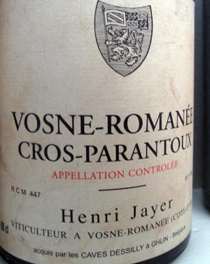 亨利·贾叶的代表作克罗-帕宏图一级田(Cros Parantoux)