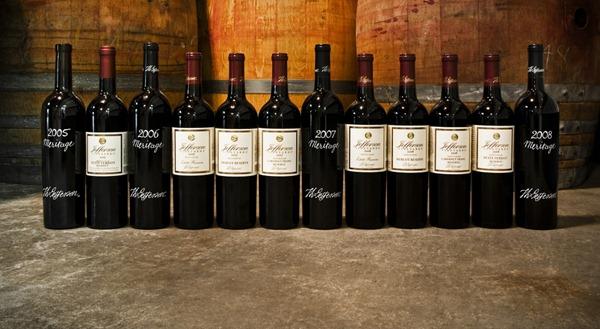 杰弗逊酒园 Jefferson's Vineyards出产的酒款,来源:杰弗逊酒园