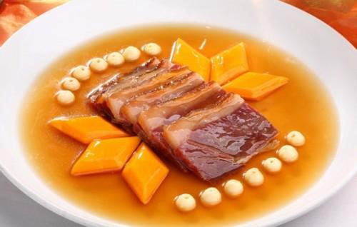 江浙传统名菜,蜜汁火方