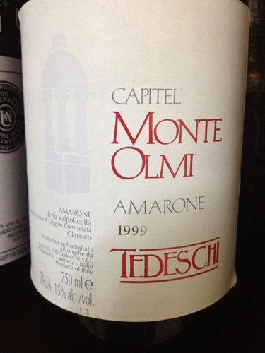 Capitel Monte Olmi Amarone della Valpolicella 1999
