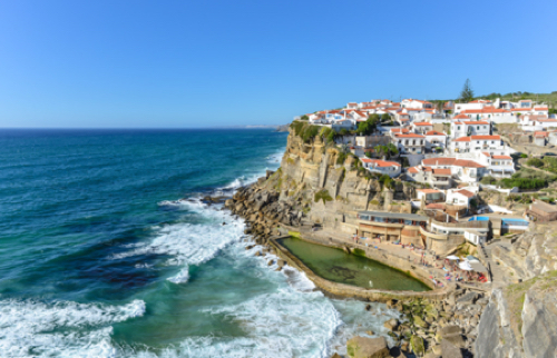 Azenhas do Mar, typical village in the coast, Portugal
