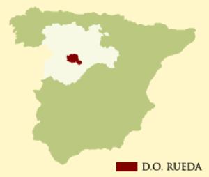 卢埃达在西班牙的具体位置(图中红色区域)