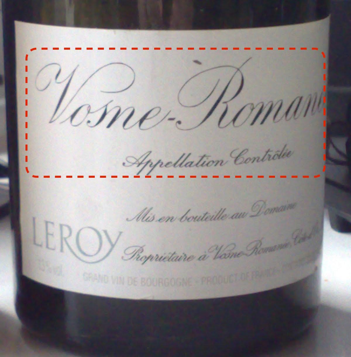乐桦庄园的Vosne-Romanée村庄级酒