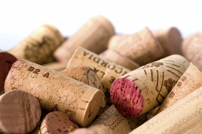 A pile of used wine corks.