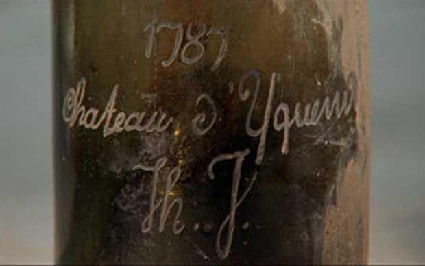 品鉴会上的一瓶1787年份滴金(Chateau d'Yquem)