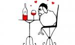 grappige-schapen-liefde-rode-wijn-51004187